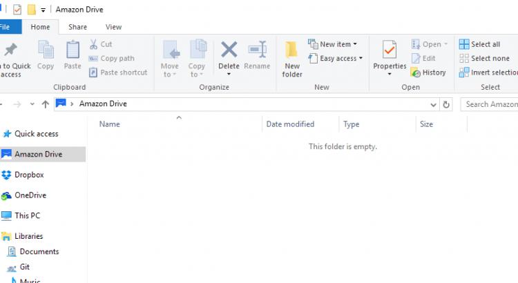 Amazon Drive synced folder